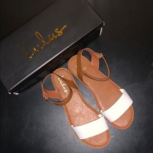 Lulu's Hearts and Hashtags sandals